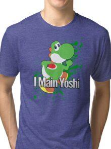 I Main Yoshi - Super Smash Bros. Tri-blend T-Shirt