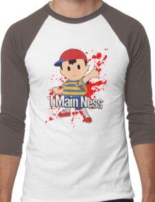 I Main Ness - Super Smash Bros. Men's Baseball ¾ T-Shirt