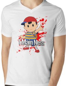 I Main Ness - Super Smash Bros. Mens V-Neck T-Shirt