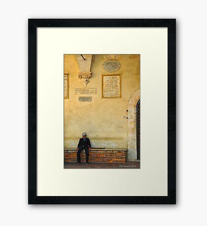 Pienza, Italy Framed Print