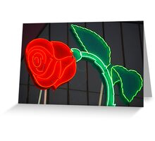 Neon Rose Greeting Card