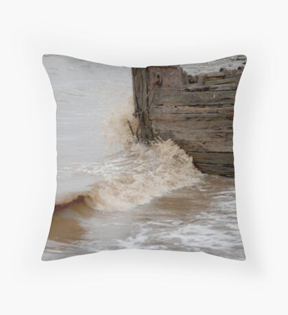 The Old Barge Throw Pillow