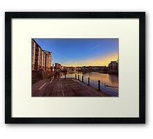 Colourful Sunset at the Shore, Edinburgh Framed Print