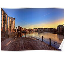 Colourful Sunset at the Shore, Edinburgh Poster