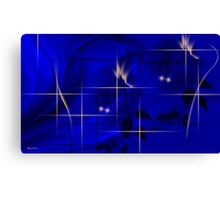 Midnight blue-Abstract Art + Design products Canvas Print