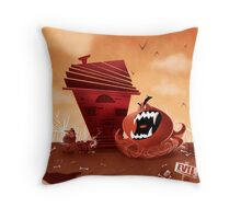 monster chaser Throw Pillow