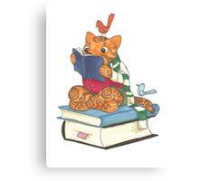 Reading Cat Canvas Print