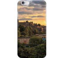 Sunset over Edinburgh Castle iPhone Case/Skin