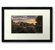 Sunset over Edinburgh Castle Framed Print