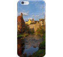 As the sun begins to set over Dean Village, Edinburgh iPhone Case/Skin