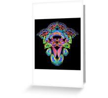 Floral Fantasy Fractal Greeting Card