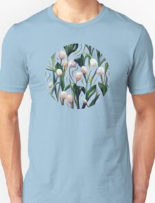 Waiting on the Blooming - a Tulip Pattern Unisex T-Shirt
