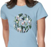 Waiting on the Blooming - a Tulip Pattern Womens Fitted T-Shirt