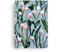 Waiting on the Blooming - a Tulip Pattern Canvas Print