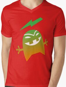 """ Bolt ""  green orange Mens V-Neck T-Shirt"