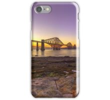 Panoramic LE HDR Sunset of the Forth Rail Bridge iPhone Case/Skin