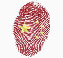 Chinese flag - fingerprint by BrewMasterMD