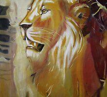 Pastel Lion by Susan van Zyl