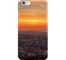 Sun Pillar over the Forth Bridges, Edinburgh Sunset iPhone Case/Skin