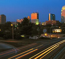 Winston Salem at night by clmustin