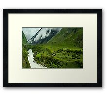 The Nature's Beauty around Manna Framed Print