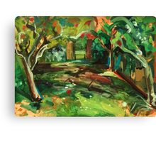 Apple Orchard Oil Painting by Jenny Meehan Canvas Print