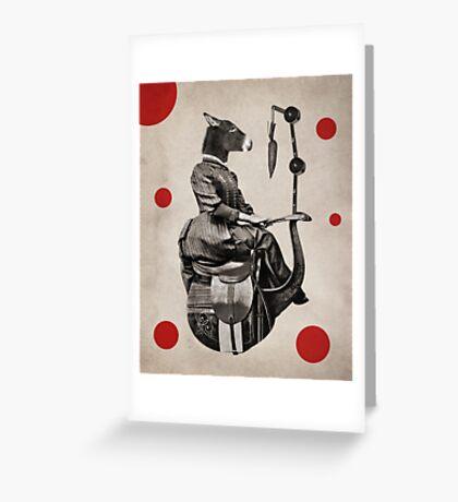 Anthropomorphic N°15 Greeting Card