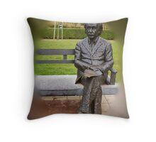 Albert Einstein - De Haan - Belgium Throw Pillow