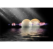 Water worlds with star rain Photographic Print