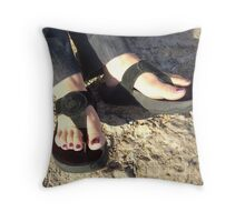 """ Fancy Feet."" Throw Pillow"