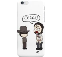 The Walking Dead, Coral meme illustration iPhone Case/Skin