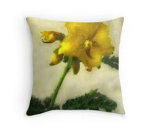 Little Yellow Wildflowers 1 Low-Key Throw Pillow