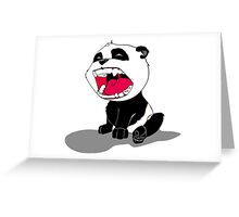 Yawning Panda Cub Greeting Card