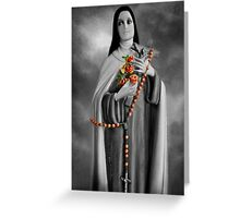"✿♥‿♥✿ST. THERESE OF LISIEUX-ALSO KNOWN AS ""LITTLE FLOWER"" VERSION TWO..PILLOW--TOTE BAG..IPAD CASE..PICTURE..CARD..ECT ✿♥‿♥✿ Greeting Card"