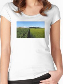 Half And Half Women's Fitted Scoop T-Shirt