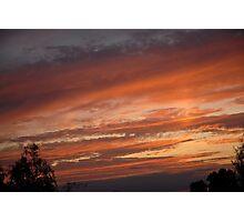 Fiery Sky Photographic Print