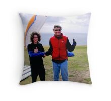 Thumbs Up For A Successful Ride Throw Pillow