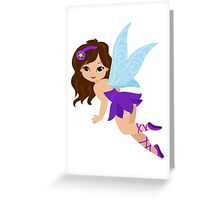 Beautiful Fairy  in a violet dress Greeting Card
