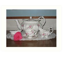 """""""Fragrance"""" Tea Set Art Print"""