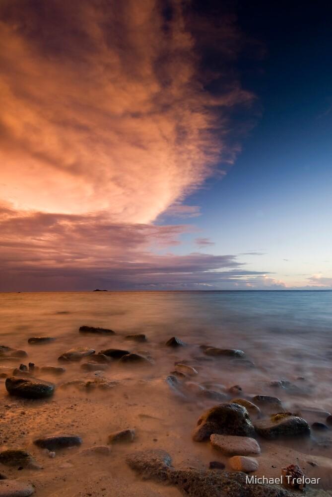 Matamanoa Island, Sunset. by Michael Treloar