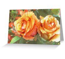 fall roses Greeting Card