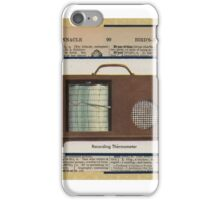 Vintage Thermometer iPhone Case/Skin