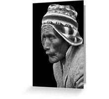 Aymara Man. Taquile Island. Titikaka Lake, Bolivia Greeting Card