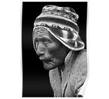 Aymara Man. Taquile Island. Titikaka Lake, Bolivia Poster