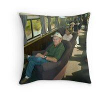 Amtrak Observation Car Throw Pillow