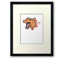 Charizard Featuring Charmander and Charmeleon Framed Print