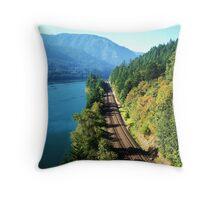 Cascade Loch, Washington...From The Bridge Throw Pillow