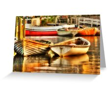 Morning Dories Greeting Card