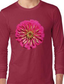 'Hot Pink Zinnea' Long Sleeve T-Shirt