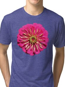 'Hot Pink Zinnea' Tri-blend T-Shirt